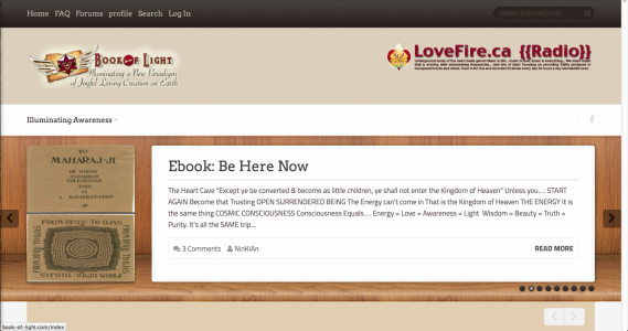 Second Book of Light Website Joomla