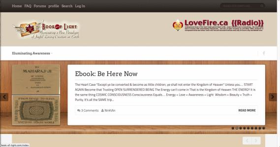 Second Book of Light Website Joomla