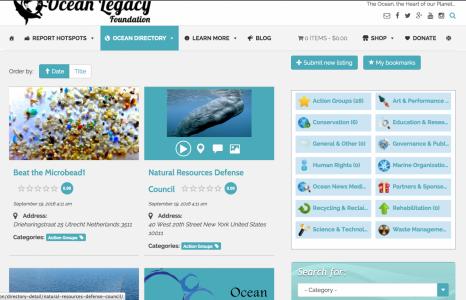 The Ocean Legacy Foundation 2016 Website