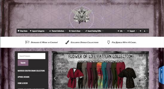Maverick CreatriX Ecommerce Website