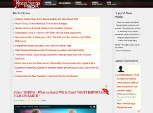 First Heart Songs Media Website