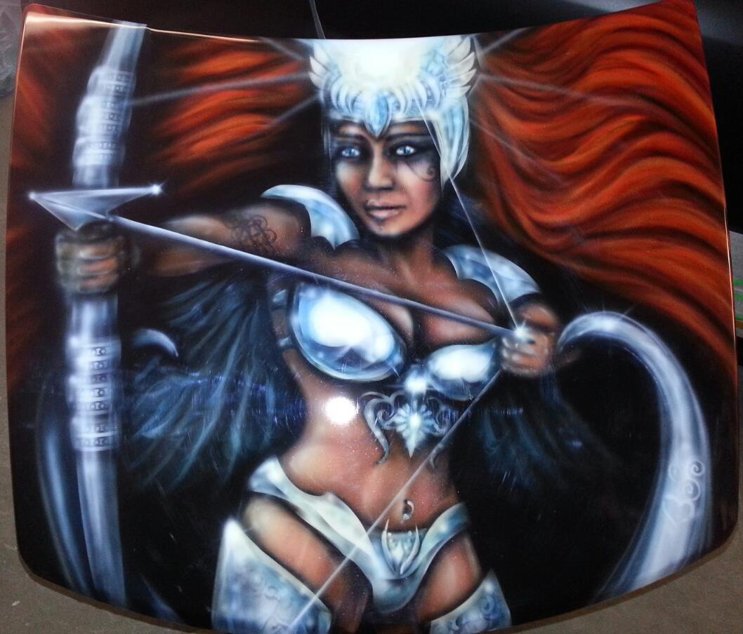 Warrior Goddess Original Airbrush