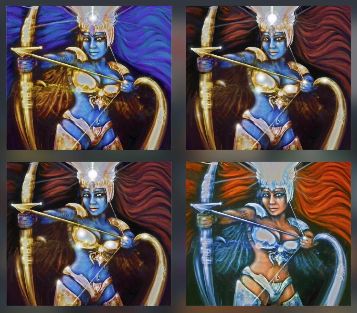 Blue Warrior Goddess Evolving